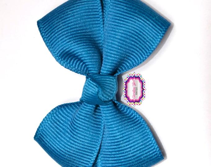 Deep Teal Hair Bow ~ Girls Hair Bows ~ Toddler Hair Bows ~ Small Hair Bows ~ Small Hair Barrette ~ Hair Bows for Girls
