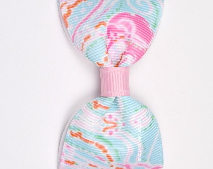 "Jellies be Jammin ~ 3"" Hair Bow Tuxedo Bow ~ Lilly Inspired ~ Simple Bow ~ Boutique Bow for Babies Toddlers ~ Girls Hair Bows"
