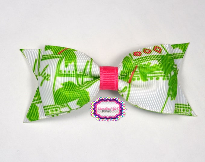"""Just Add Mint Julep ~ 3.5"""" Hairbow ~ Lilly Inspired ~ Small Hair Bow ~ Girls Barrette ~ Toddler Bow ~ Hair Clip ~ Girls Hair Bow"""