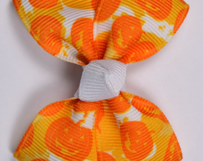 Halloween Pumpkin Camo Hair Bow 2.5 Inch Pinwheel Boutique Bow for Babies Toddlers Girls Hair Bows