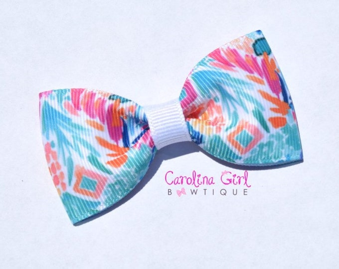 "Goombay Smash ~ 3"" Hair Bow Tuxedo Bow ~ Lilly Inspired ~ Simple Bow ~ Boutique Bow for Babies Toddlers ~ Girls Hair Bows"