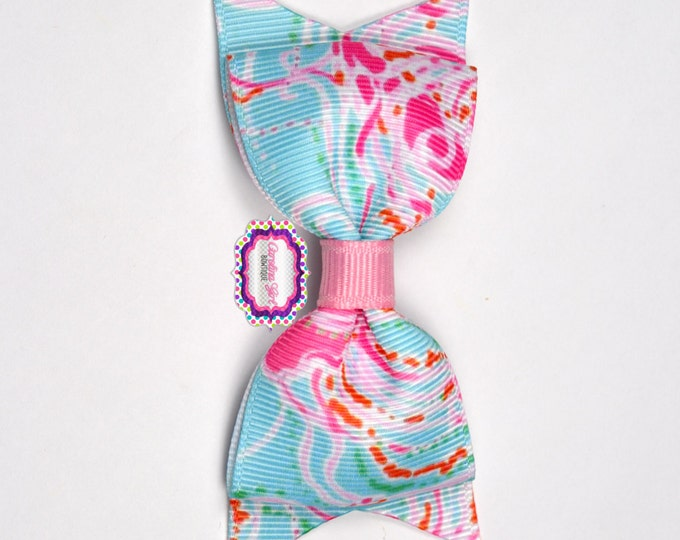 "Jellies Be Jammin Bow  ~ 3.5"" Hairbow ~ Lilly Inspired ~ Small Hair Bow ~ Girls Barrette ~ Toddler Bow ~ Hair Clip ~ Girls Hair Bow"