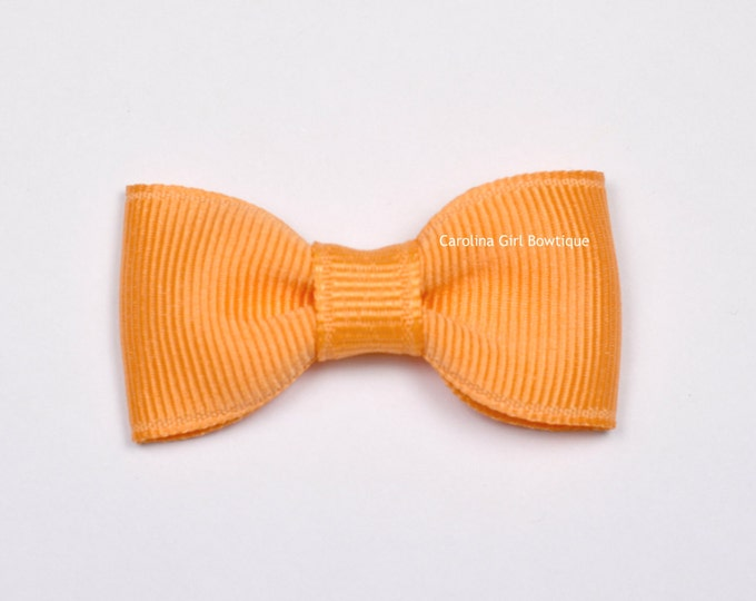 Creamsicle Baby Hair Bow ~ 2 in. Bow with No Slip Grip ~ Small Hair Bows Newborns Toddler Girls