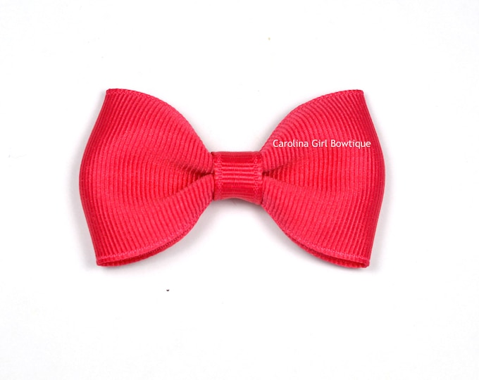"""French Pink Tuxedo Bow  ~ 2.5"""" Hairbow ~ Small Hair Bow ~ Girls Barrette ~ Toddler Bow ~ Baby Hair Bow ~ Hair Clip ~ Girls Hair Bow"""