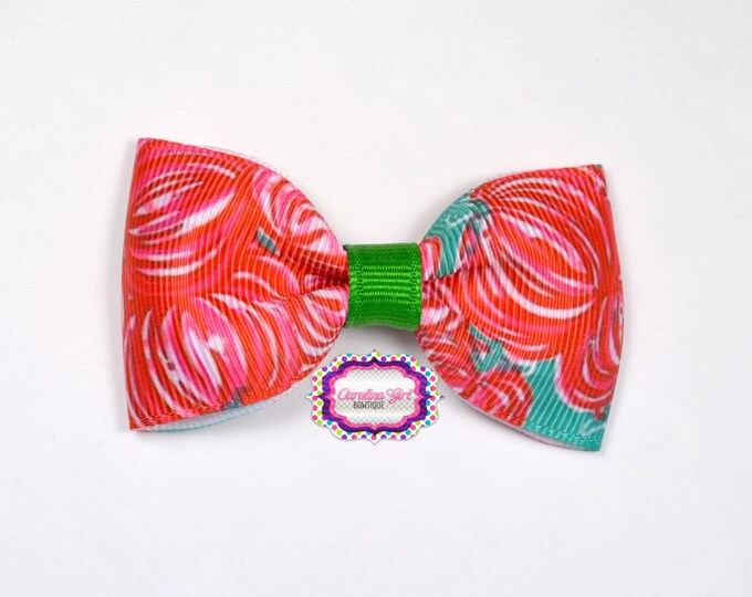 "Punkin Chunkin ~ 3"" Hair Bow Tuxedo Bow ~ Lilly Inspired ~ Simple Bow ~ Boutique Bow for Babies Toddlers ~ Girls Hair Bows"