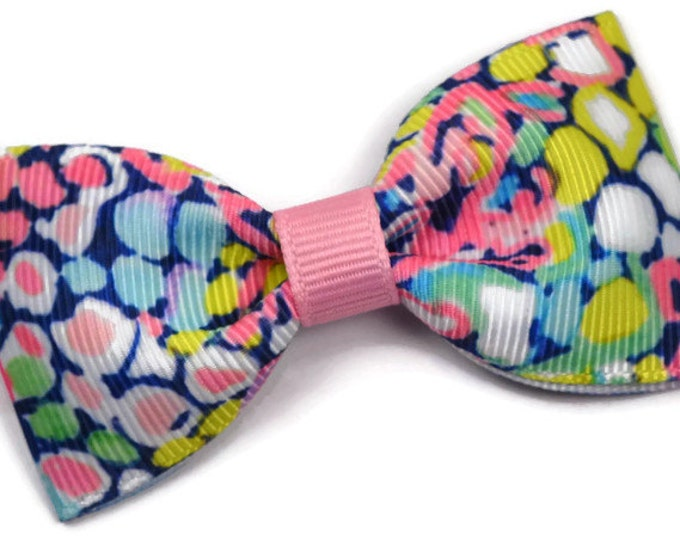 """Gypsy Jungle ~ 3"""" Hair Bow Tuxedo Bow ~ Lilly Inspired ~ Simple Bow ~ Boutique Bow for Babies Toddlers ~ Girls Hair Bows"""