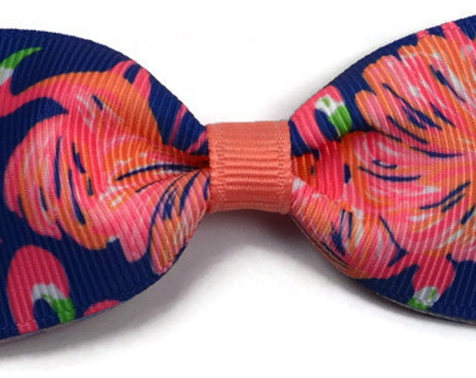 "Gimme Some Leg ~ 3"" Hair Bow Tuxedo Bow ~ Lilly Inspired ~ Simple Bow ~ Boutique Bow for Babies Toddlers ~ Girls Hair Bows"