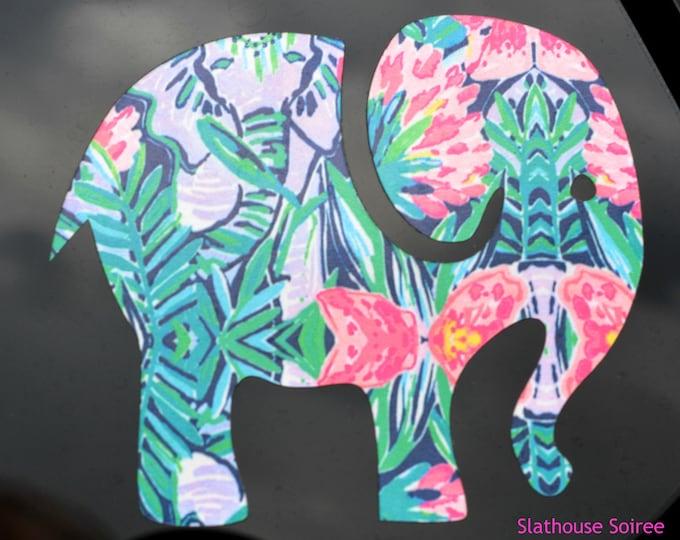 Lilly Pulitzer Inspired Elephant Decal ~ Yeti Decal ~ Lilly Car Decal ~ Lilly Decal ~ Lilly Sticker