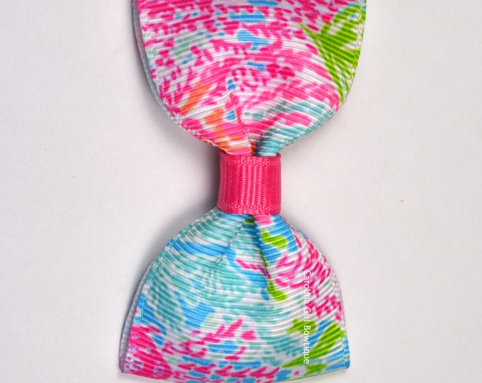 """Lets Cha Cha ~ 3"""" Hair Bow Tuxedo Bow ~ Lilly Inspired ~ Simple Bow ~ Boutique Bow for Babies Toddlers ~ Girls Hair Bows"""
