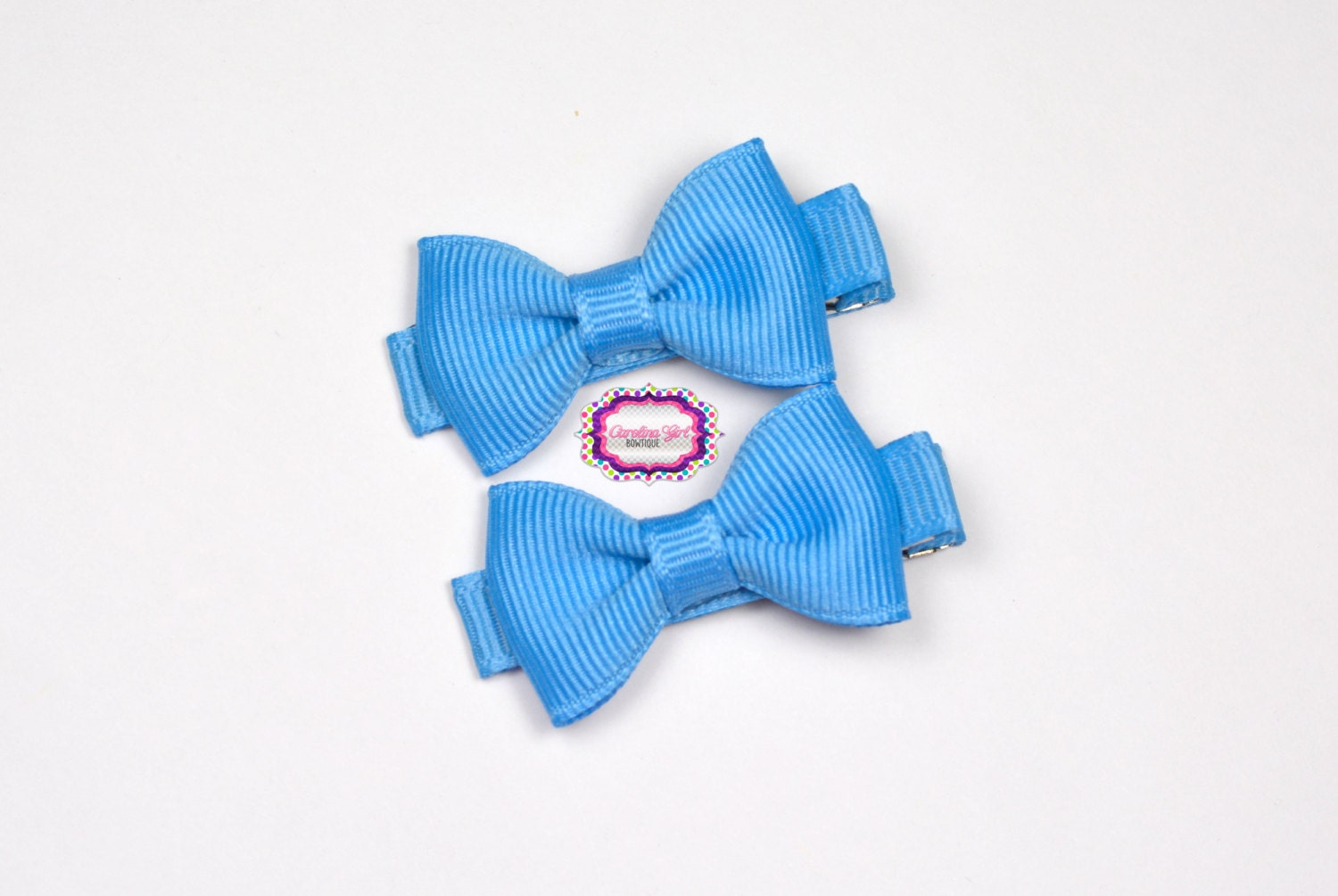 baby girl hair accessories copen blue bow clips small