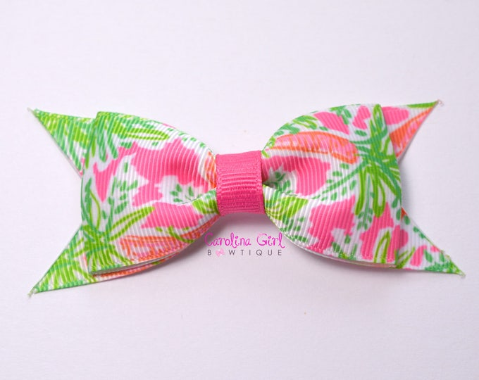 """Nibbles Bow  ~ 3.5"""" Hairbow ~ Lilly Inspired ~ Small Hair Bow ~ Girls Barrette ~ Toddler Bow ~ Hair Clip ~ Girls Hair Bow ~ Easter Bow"""