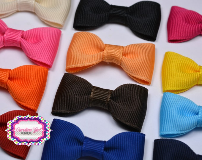 """You Pick 5 -  2"""" Hair Bow Tuxedo Bow Simple Bow Boutique Bow for Babies Toddlers Girls Hair Bows Teen Hair Accessory"""