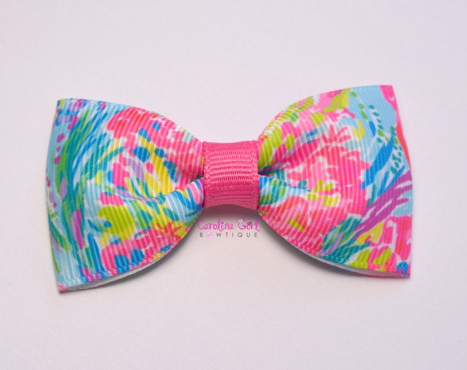 """Fan Sea Pants ~ 3"""" Hair Bow Tuxedo Bow ~ Lilly Inspired ~ Simple Bow ~ Boutique Bow for Babies Toddlers ~ Girls Hair Bows"""