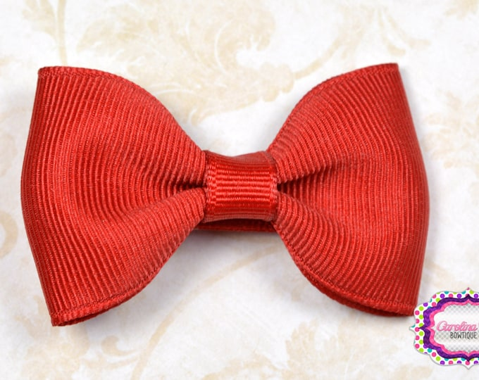 """Red 2.5"""" Hair Bow Tuxedo Bow Simple Bow Boutique Bow for Babies Toddlers Girls Hair Bows"""