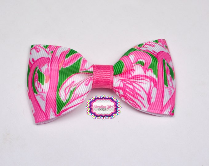 """Pink Colony ~ 3"""" Hair Bow Tuxedo Bow ~ Lilly Inspired ~ Simple Bow ~ Boutique Bow for Babies Toddlers ~ Girls Hair Bows"""