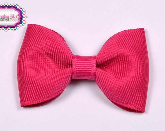 """Shocking Pink  2.5"""" Hair Bow Tuxedo Bow Simple Bow Boutique Bow for Babies Toddlers Girls Hair Bows"""