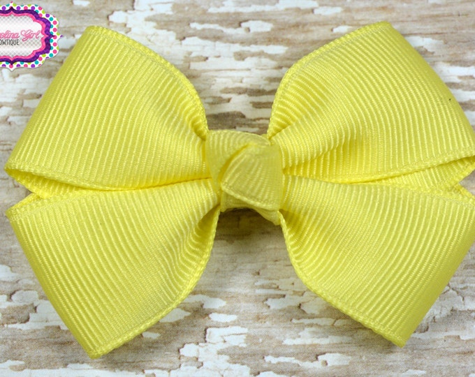 Maize Hair Bow 2.5 Inch Pinwheel Boutique Bow for Babies Toddlers Girls Hair Bows