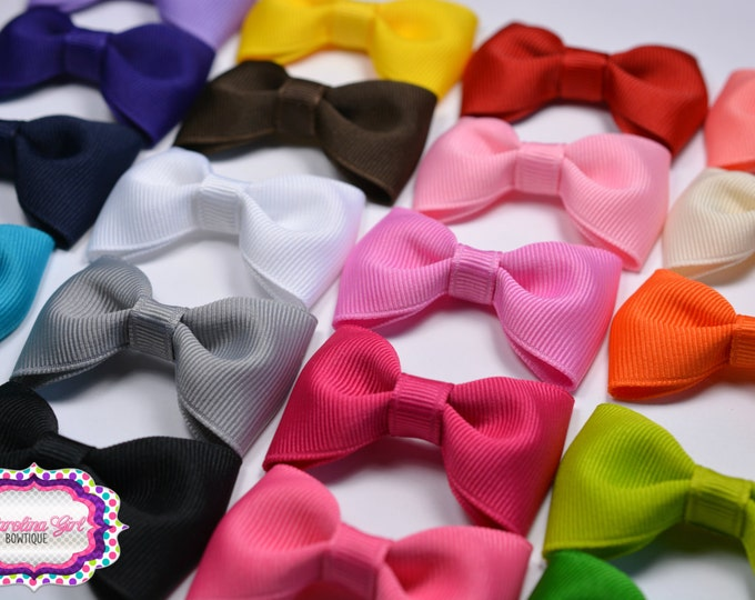"""Pick 10 ~ 2.5"""" Hair Bow Tuxedo Bow Simple Bow Boutique Bow for Babies Toddlers Girls Hair Bows"""