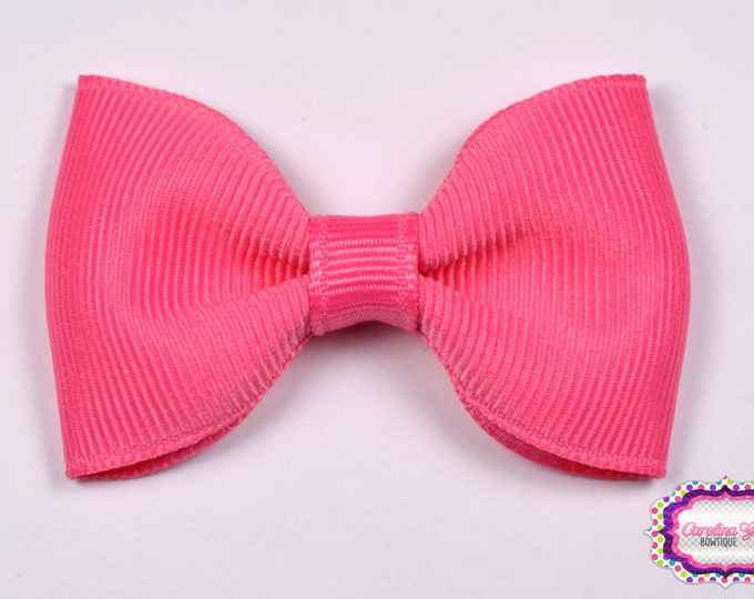 """Hot Pink 2.5"""" Hair Bow Tuxedo Bow Simple Bow Boutique Bow for Babies Toddlers Girls Hair Bows"""