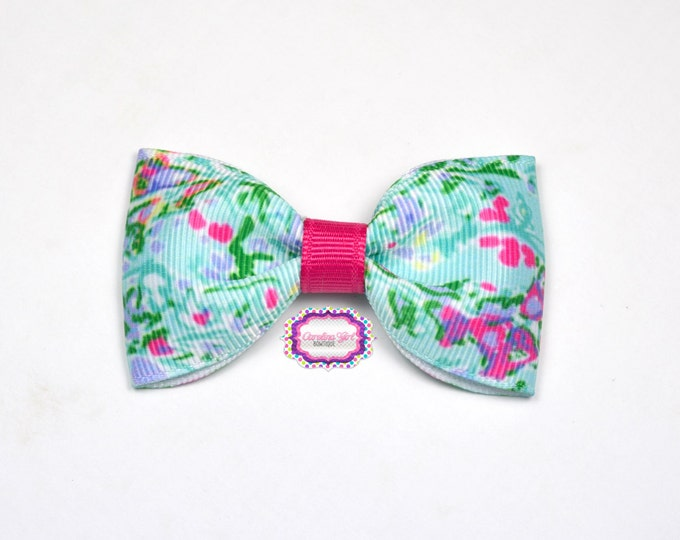 """Southern Charm ~ 3"""" Hair Bow Tuxedo Bow ~ Lilly Inspired ~ Simple Bow ~ Boutique Bow for Babies Toddlers ~ Girls Hair Bows"""