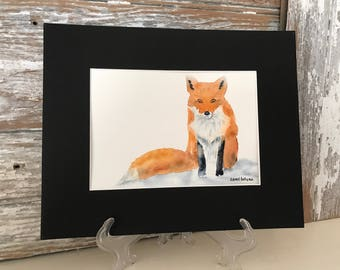 Watercolor Painting of a Red Fox-Fox Painting-Nursery Art-Wall Art-Home Decor