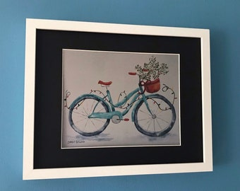 Cycling Gift, Cycling Art, Bicycle Gift, Cycling Decor, Gift for Cyclist, Christmas Bicycle, Bicycle Art, Bicycle Print,