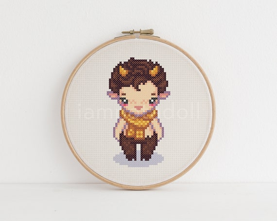 Faun A Cute Pixel Art Counted Cross Stitch Pattern