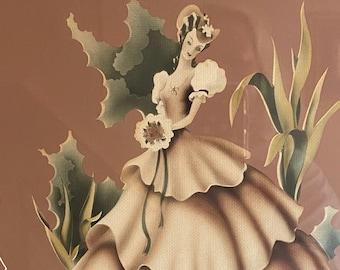 VIctorian Pink Turner Art Print Mademoiselle 1940s Pine Gorgeous