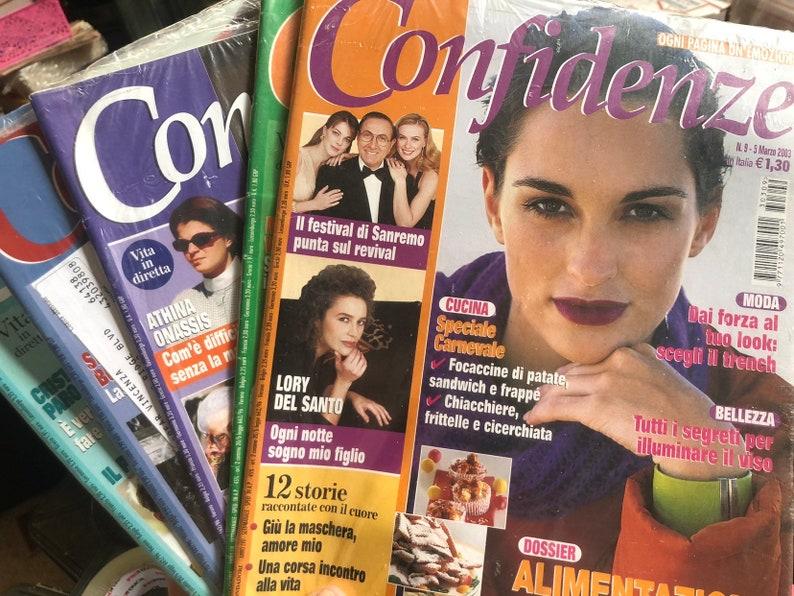 Italian Magazines Confidenze Scrapbooking or Journaling Weekly image 0