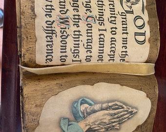 God Serenity Prayer Book Vintage Looks Real Pray Prayer Praying Hands Christian