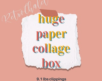 Paper Ephemera Lot 9 pounds Collage Clippings Pages Mixed Media Scrapbooking Journaling