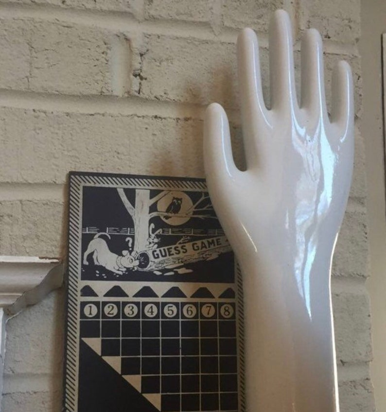 Vintage Porcelain Glove Mold USA Decorative Art Object lg size image 0