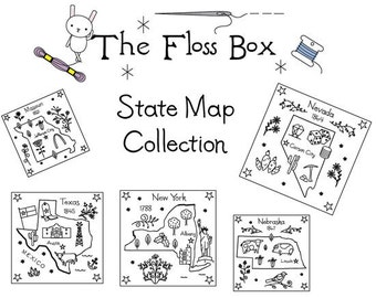 State Map Embroidery Pattern Collection