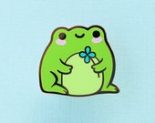 Green Frog Hard Enamel Pin - Outdorables II Series