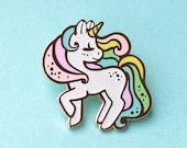 Unicorn Rainbow Pastel Glitter Hard Enamel Pin