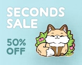 SECONDS SALE: Cute Fox Hard Enamel Pin - (B-grade, Imperfect) Half Price