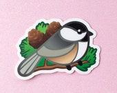 Chickadee Bird Vinyl Decal Stickers - 3 inch Indoor/Outdoor Die Cut