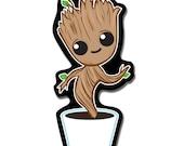 Dancing Baby Groot Magnet