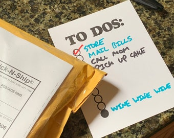 Two Dozen Letterpress To-Do Lists