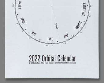 2022 Orbital Elements Calendar Letterpress