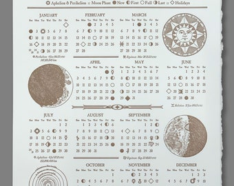 2022 Astronomical Calendar Letterpress - 2021 Included While Supplies Last