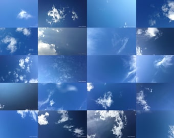 Zenithgram Screensaver Images with Clouds, Sun and Sky - Sparse