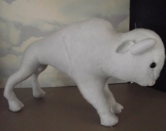 Buffalo Bison WHITE Toy Buffalo Bison to Play With