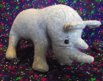 Rhinoceros Rhino Stuffed Animal Pattern to Sew...Paper Pattern Special Price