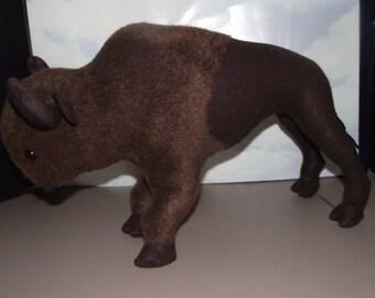 American Buffalo Bison Stuffed Animal Pattern to SEW