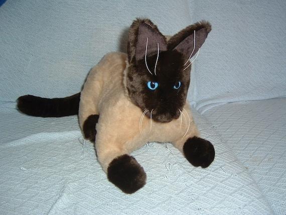 Katzen Katze gefüllte Tiermuster Russisch Blau Kattun | Etsy
