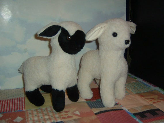 Black Face White Face Instant Download Lamb Stuffed Animal Etsy