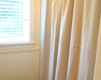 More Colors Linen Shower Curtain