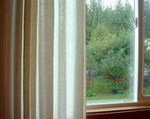 Organic Pleated Curtains, Window Treatment, Hemp Tencel