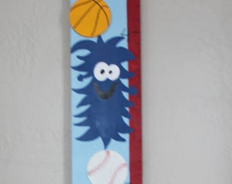 Personalized Wooden Monster Growth Chart